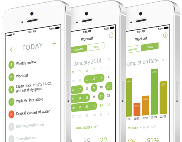 Apps to track your habits and goals · Exist