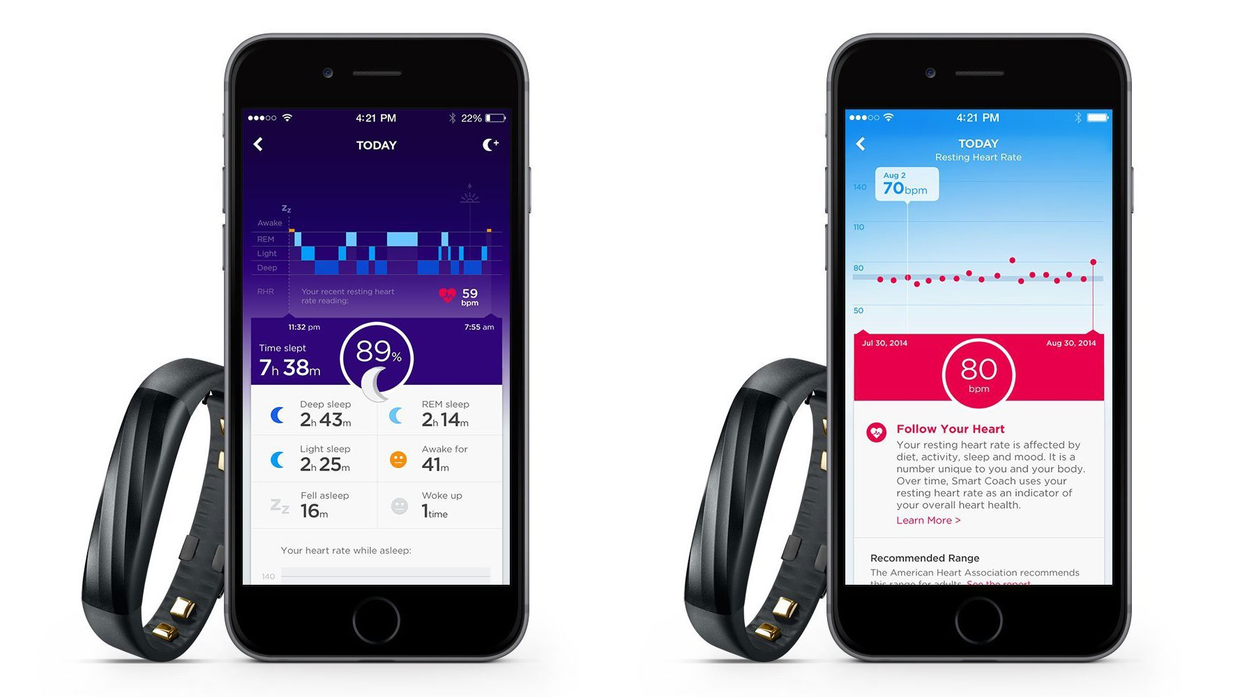Jawbone UP heart rate
