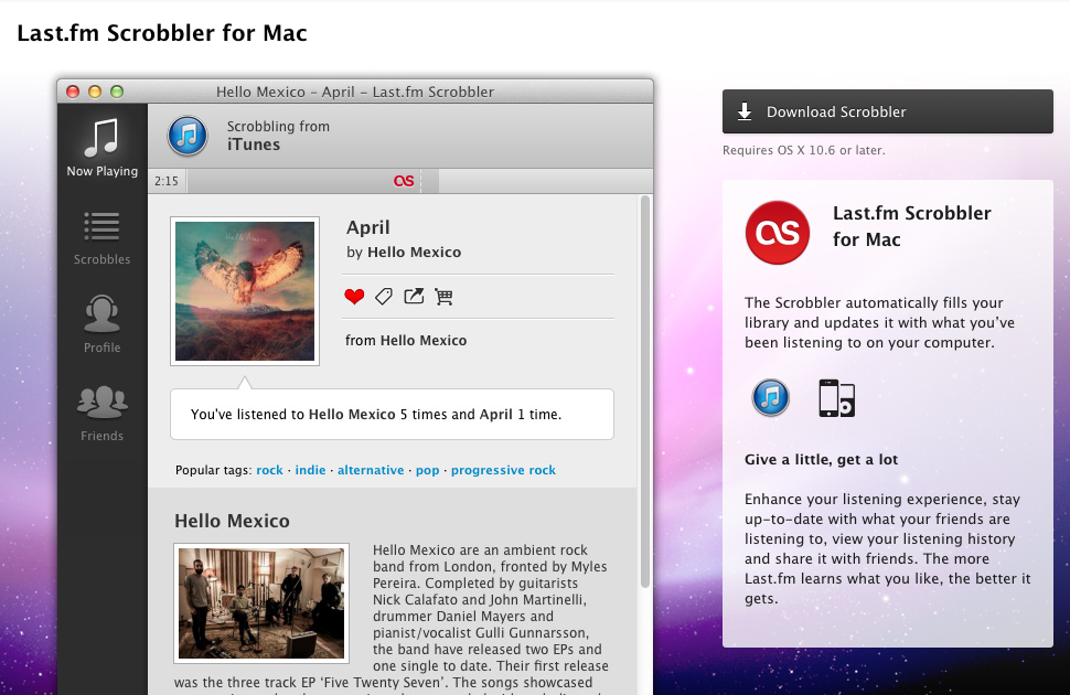How to connect your music app to last fm · Exist