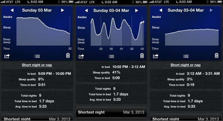 Tracking sleep with your phone · Exist
