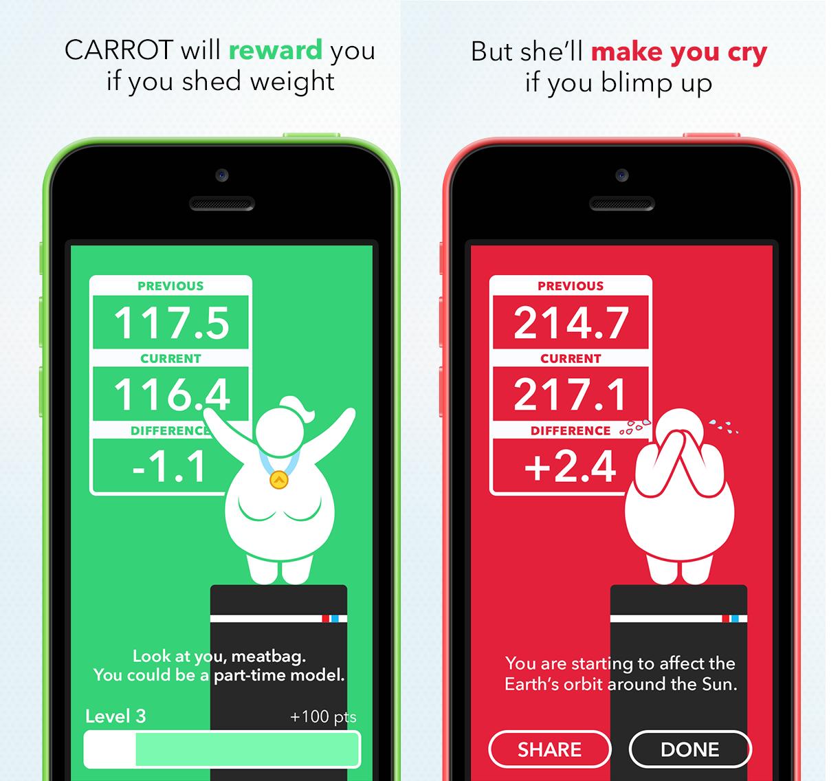 CARROT Fit iOS app